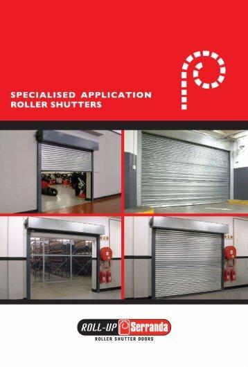 Roll-Up Serranda - Specialised Application Roller Shutters