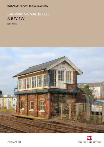 RAILWAY SIGNAL BOXES A REVIEW - English Heritage