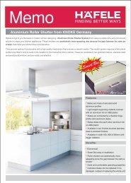Aluminium Roller Shutter from KNOKE Germany - Hafele