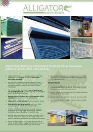 Alligator Roller Shutters are manufactured - Henry Lewis and Son Ltd
