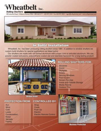 Download Brochure - Wheatbelt Rolling Shutters, Inc.