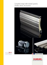 Complete range roller shutter systems. Profiles, Boxes ... - Alulux