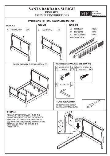 Sawyer Sleigh Twin Full Bed