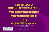 """TRA-7014 """"EMS Is Like a Box of - Virginia Department of Health"""