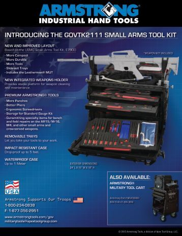 introducing the govtk2111 small arms tool kit - Armstrong Tools