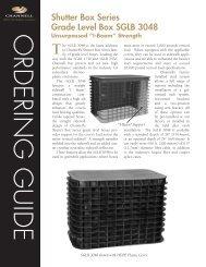 Shutter Box Series Grade Level Box SGLB 3048 - Brodsky Trading