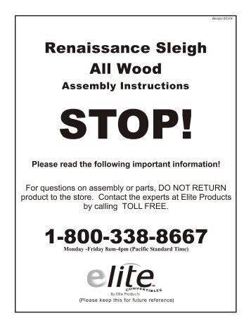 Assembly Instructions   Munire Furniture. Renaissance Sleigh Allwood.1    American Furniture Alliance
