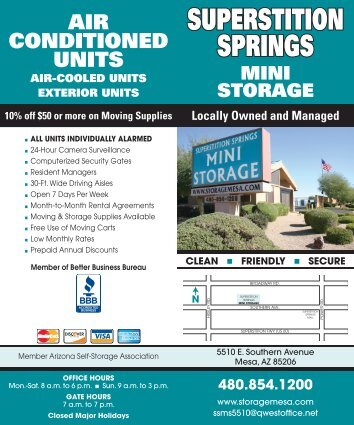 Download our Brochure with/ Packing Tips - Superstition Springs ...