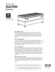 SULTAN buying guide - Ikea