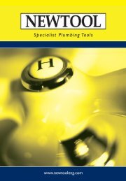 Specialist Plumbing Tools - New Tool