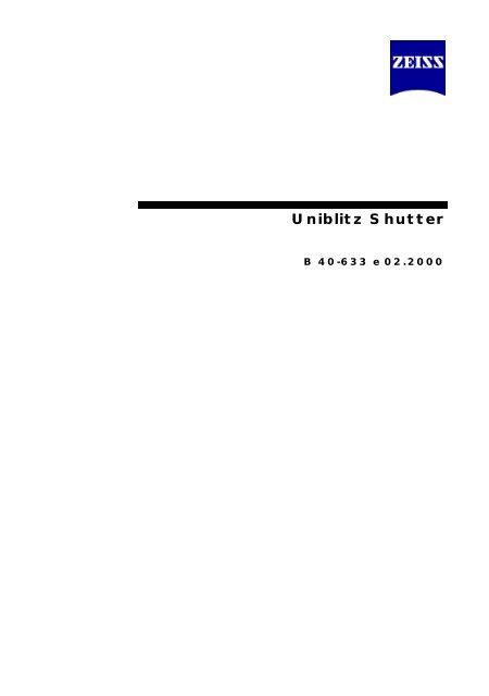 Uniblitz Shutter - Zeiss Vision - Carl Zeiss