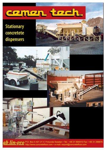 Cementech stationary concrete dispensers