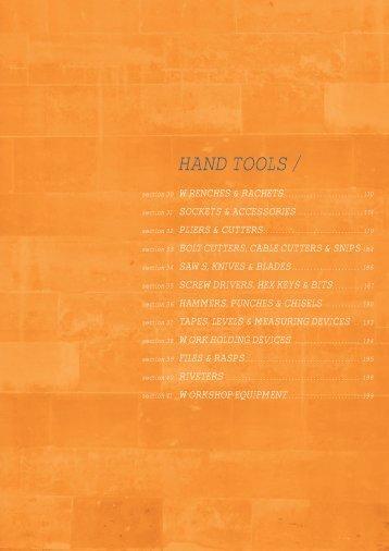 HAND TOOLS / - Tucks Fasteners & Fixings