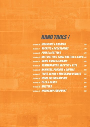 HAND TOOLS / - Tucks Fasteners & Fixings