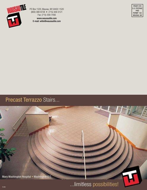 Precast Terrazzo Stairs Reed Construction Data