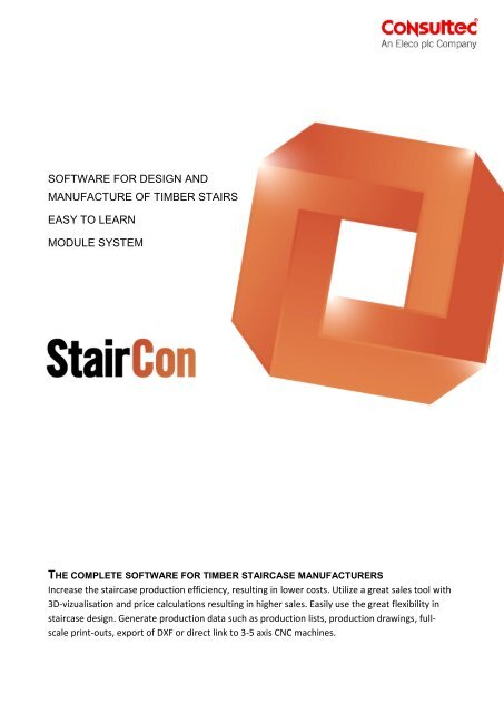Software For Design And Manufacture Of Timber Stairs - StairCon