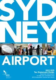 2012 SYD Tax Statement Guide: - Sydney Airport