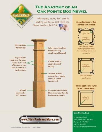 Anatomy Of A Box Newel   Oak Pointe Stairs