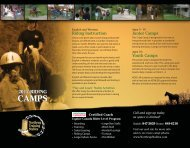 download Camp Brochure PDF for printing - Northrup Training Stables