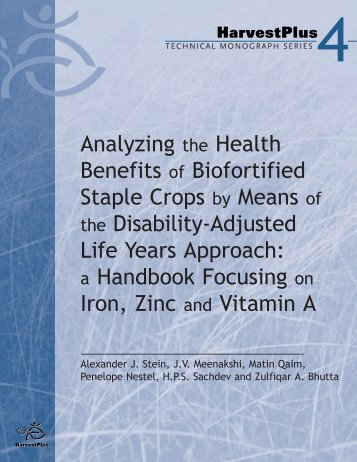 Analyzing the Health Benefits of Biofortified Staple Crops by Means ...