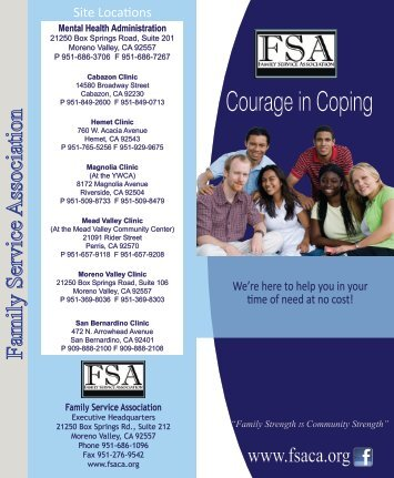 Courage in Coping (Free) @ FSA - Riverside County Department of ...