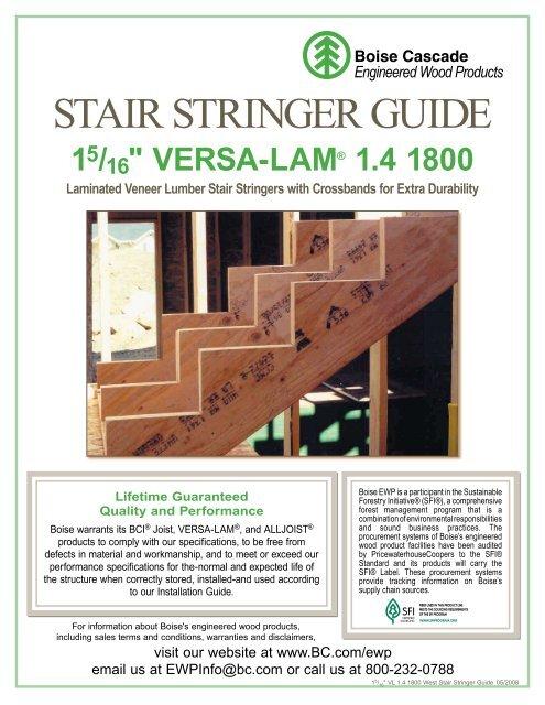 VERSA-LAM 1 4 1800 Stair Stringer Guide - Ebuild