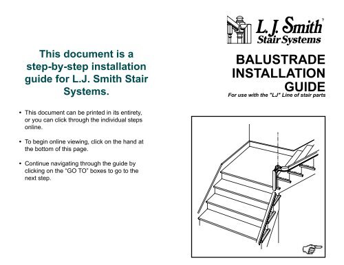 BALUSTRADE INSTALLATION GUIDE   LJ Smith | Stair Systems