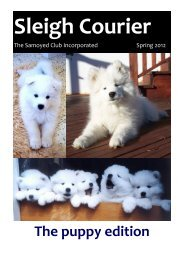 Sleigh Courier Spring 2012 (pdf 5.8MB) - The Samoyed Club ...