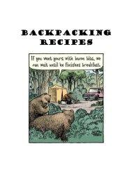 Backpacking Recipes - Troop 344