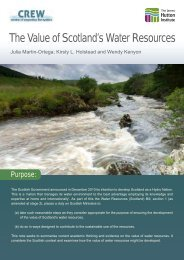 The Value of Scotland's Water Resources - The James Hutton Institute