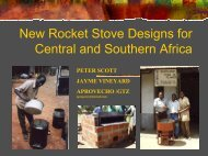 New Rocket Stove Designs For Central And Southern