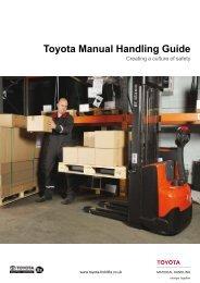 Toyota Manual Handling Guide - Toyota Material Handling UK