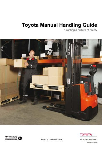 Toyota Manual Handling Guide - Toyota Material Handling UK