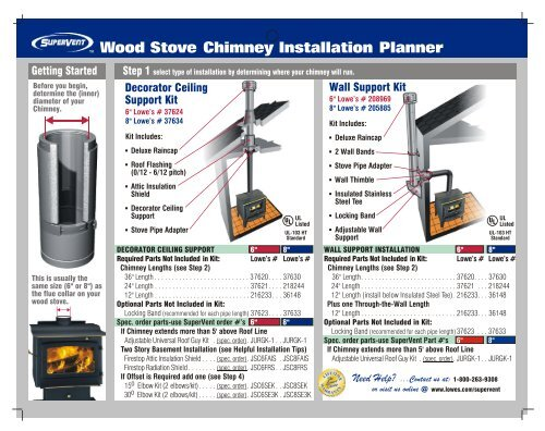 Wood Stove Chimney Installation Planner Selkirk