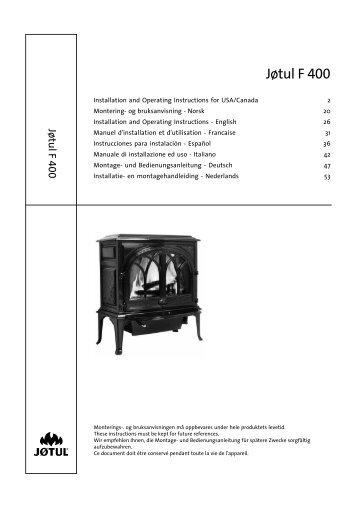 Jøtul F 400 Dbl Door - Jøtul stoves and fireplaces