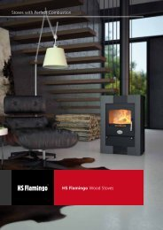 HS Flamingo Wood Stoves Stoves with Perfect Combustion