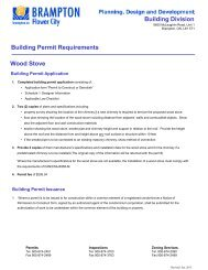 Building Permit Requirements Wood Stove - the City of Brampton
