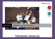GSA Gym for All Gym Challenge- training manual - Gymnastics SA