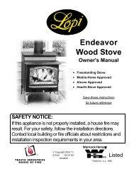 E N D E A V O R Wood Stove - Kirkland Fireplace