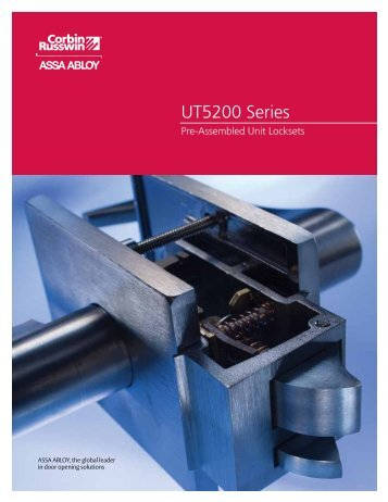 UT5200 Series - ASSA ABLOY Door Security Solutions :: Extranet