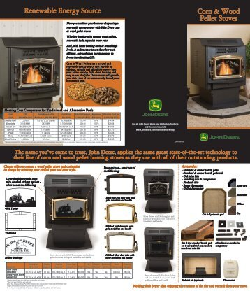 Corn & Wood Pellet Stoves Renewable Energy Source - John Deere