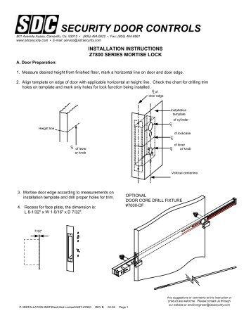 Installation Instructions - SDC Security Door Controls