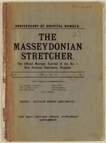 View The Masseydonian stretcher as PDF - Christchurch City Libraries