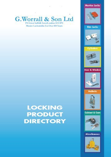 mortice locks & latches - G.Worrall