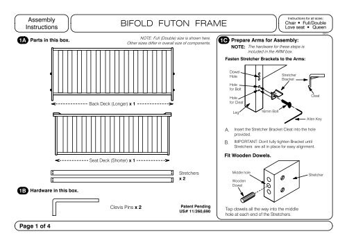 Futon Body Instructions Pdf Anchor