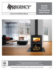 CS1200 Alterra® Freestanding Wood Stove - Regency Fireplace ...