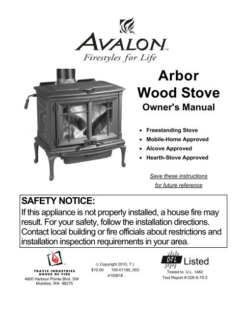 Avalon Astoria Pellet Stove Troubleshooting