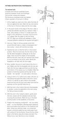 FITTING INSTRUCTIONS P4KPM562CH To reverse bolt Unscrew ...