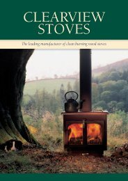The leading manufacturer of clean burning wood ... - Clearview Stoves