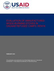 evaluation of manufactured wood-burning stoves in dadaab refugee ...